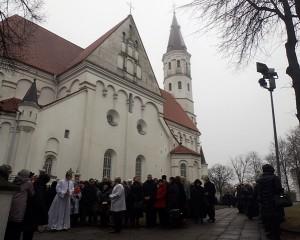 Šiaulių katedros durų atidarymas