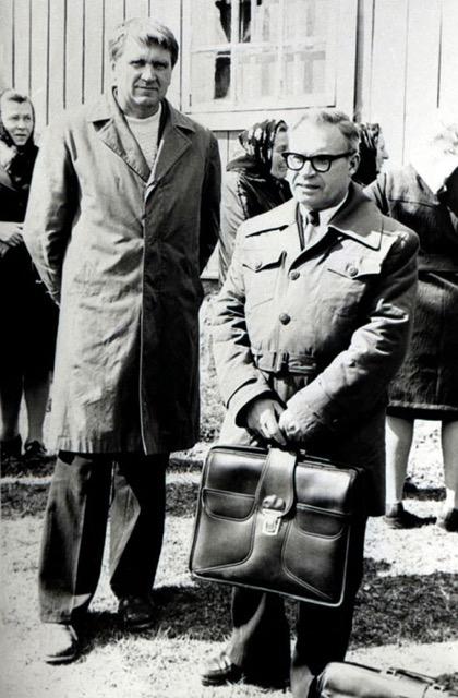 M. Jurevičius deš ir Ant.Terleckas kair._ 1978