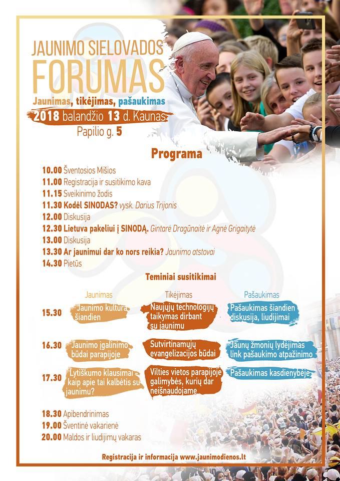 sielovados forumo programa