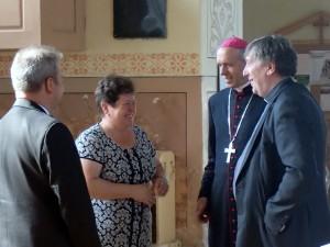 Svečius pasitiko Meškuičių seniūnė Jolanta Baškienė