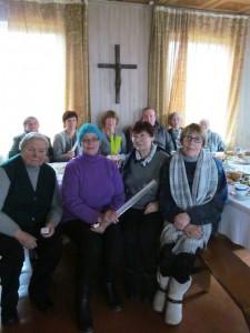 Susitikimo su parapijiečiais metu Skaistgirio parapijos namuose
