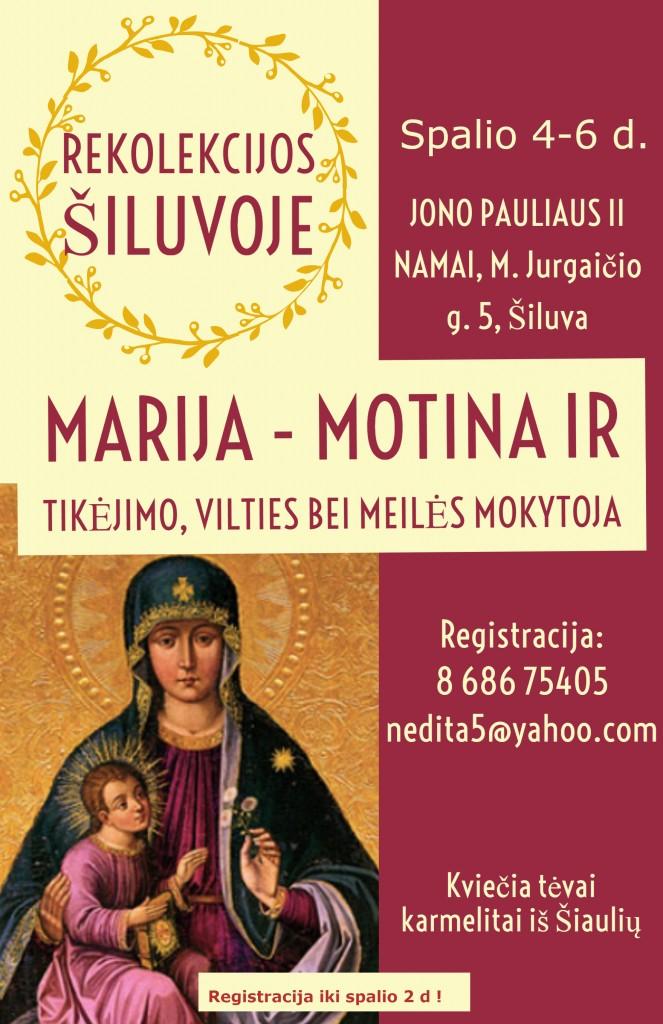 rekolekcijos Spalio Marija