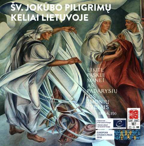 Vadovo viršeliui pasirinktas Gražinos Vingrienės freskos motyvas, primenantis, jog tikroji piligrimystė, - tai kelias paskui Kristų. Vysk. Eugenijaus Bartulio nuotr.
