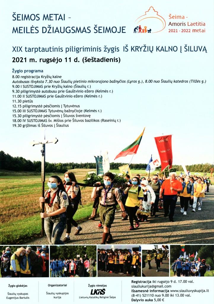 Plakatas Kryziu kalnas - Siluva